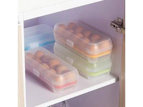 Kitchen Refrigerator 10 Grids Egg Storage Box Plastic Food Organizer Anti Collision Egg Tray Container 31