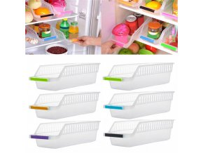 Tenske box Kitchen Refrigerator Space Saver Organizer Slide Shelf Rack Storage Holder plastic box 30 GIFT 36