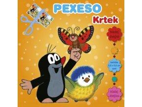 Dětské pexeso v sešitu Krteček a sýkorka s maxi kartičkami