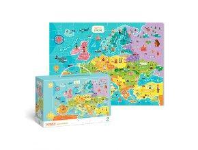 Puzzle mapa Evropy - 100 dílků