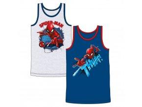 Marvel SPIDERMAN chlapecké tílko modrá + šedá, 2 ks