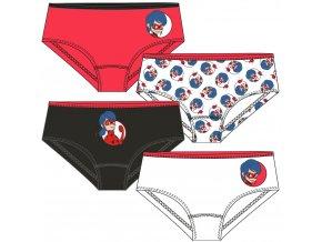 MIRACULOUS LADYBUG Kouzelná beruška dívčí kalhotky, sada 4 ks (bílá, černá, červená)