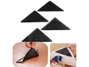 4pcs Set Reusable Washable Rug Carpet Mat Grippers Non Slip Silicone Grip For Home Bath Living 7
