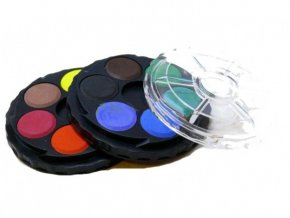 Vodové barvy kulaté 12 barev, 22,5 mm