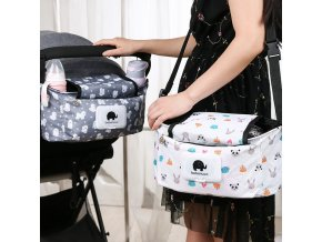 Cute Floral Baby Hanging Basket Stroller Bag Mummy Stroller Travel Nappy Bags Water Bottle Storage Nursing 1