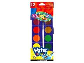 Vodové barvy Colorino 12 barev + štětec