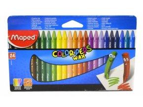 Maped Wax Voskové pastelky trojhranné 24 barev