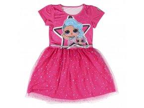 Dívčí šaty LOL Surprise, tmavě růžové