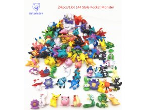 24pcs 144 Style Japanese Pocket Monster figures pokeball pikachu charizard figurine figuras doll lot for kids 54
