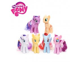 Pack of 6 My Little Pony Toys Set Friendship is Magic Rainbow Dash Twilight Sparkle Pinkie 63