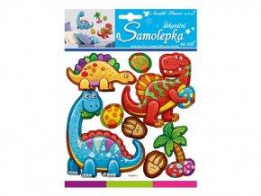 Samolepící dekorace plastické Dinosauři
