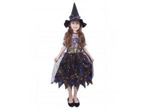Dětský kostým - Čarodějnice barevná