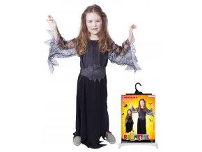 Dětský kostým černá čarodějnice