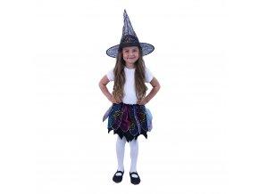 Dětský kostým čarodějnice, tutu sukně a klobouk