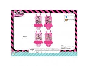 LOL Surprise jednodílné plavky růžové s volánkovou sukní