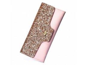 Dámská módní peněženka se zlatými flitry