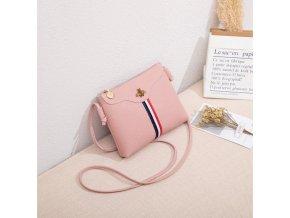 Dámská koženková kabelka, růžová