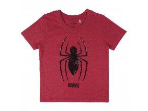SPIDERMAN tričko s krátkým rukávem s flitry červené