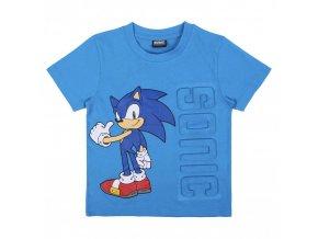 SONIC tričko s krátkým rukávem 3D aplikace, modré