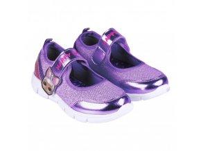 LOL Surprise dívčí fialové balerínky na suchý zip