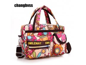 Color Flower Pattern Mini Women Travel Shoulder Bag Mommy Maternity Bag Baby Diaper Nappy Changing Bags 66