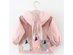 Melario Baby Girls Coats 2018 New autumn Three rabbits cute Baby Clothes Outerwear Infant Cartoon rabbit AX927 pink