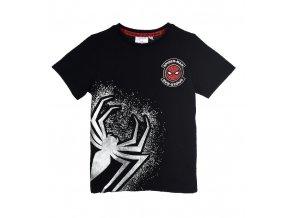 MARVEL SPIDERMAN černé tričko se stříbrným potiskem