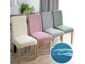 Elastické potahy na jídelní židli voděodolné jednobarevné 55x60 cm