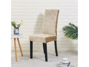 Elastické potahy na jídelní židli semišové jednobarevné