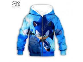 Super Sonic mikina s kapucí, na zip