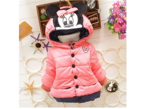 Big Size Baby Girls Jackets 2017 Autumn Winter Jacket For Girls Winter Minnie Coat Kids Clothes pink