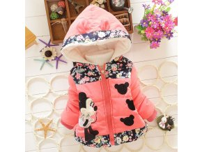 Big Size Baby Girls Jackets 2017 Autumn Winter Jacket For Girls Winter Minnie Coat Kids Clothes pink (2)
