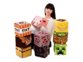 Minecraft plyšová kostka 10 cm, 20 cm, 30 cm