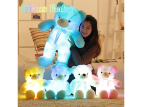 Newest 30 50 80cm Creative Light Up LED Teddy Bear Stuffed Animals Plush Toy Colorful Glowing 1