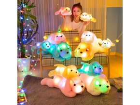 35cm Colorful Luminous Plush Toy For Children Glowing Cartoon Dogs Flashing Cotton Soft Stuffed Toys Lovely 1