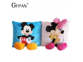 1PC 35 35cm Mickey Mouse and Minnie Plush Pillow Cushion Cartoon Mickey Mouse and Minnie Soft 1
