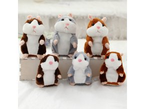 Dropshipping Promotion 15cm Lovely Talking Hamster Speak Talk Sound Record Repeat Stuffed Plush Animal Kawaii Hamster 4