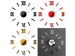 Nástěnné 3D hodiny Římská čísla