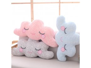 1pc 3 Patterns Cloud pillow plush stuffed toys simulation cloud doll High quality filler feels smooth 1