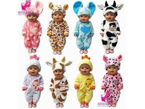 43cm Zapf Baby born doll clothes cartoon set for 18 inch american girl doll cute animal 1