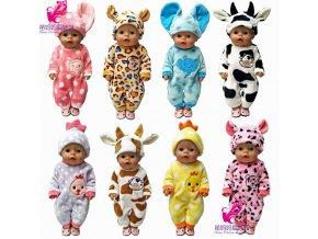 43cm Zapf Baby born doll clothes cartoon set for 18 inch american girl doll cute animal 1