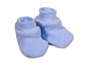 Dětské bačkůrky New Baby modré, vel. 62 (3-6m)