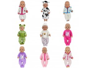 Doll Jump Suits Fit For 43cm Baby Born Zapf Doll Reborn Baby Clothes And 17inch 1