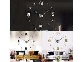 Velké nástěnné 3D hodiny