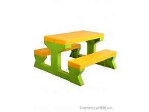 Dětský zahradní nábytek - Stůl a lavičky