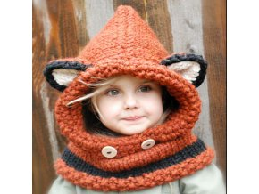 Mingjiebihuo Buy hat gift scarf new animal fox cap ear warmer cute children s handmade knitted juse