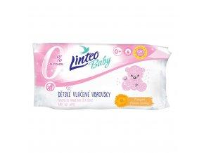 Dětské vlhčené ubrousky Linteo Baby 120 ks Soft and cream