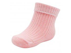 Kojenecké bavlněné ponožky New Baby růžové, vel. 56 (0-3m)
