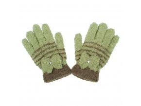 Dětské zimní froté rukavičky New Baby olivové, vel. 110 (4-5r)