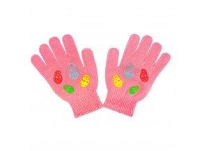 Dětské zimní rukavičky New Baby Girl růžové, vel. 122 (6-7 let)